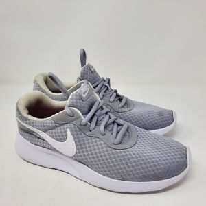 Nike grey & White Tanjun sneakers Size 8.5…